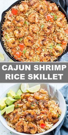 Cajun Shrimp And Rice, Shrimp And Rice Recipes, Grilled Shrimp Recipes, Shrimp And Asparagus, Spicy Shrimp, Cajun Recipes, Seafood Recipes, Pasta Recipes, Shrimp Tacos