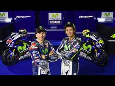 Valentino Rossi and Jorge Lorenzo with their 2015 Movistar Yamahas