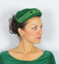 the color green in a vintage hat, perfection