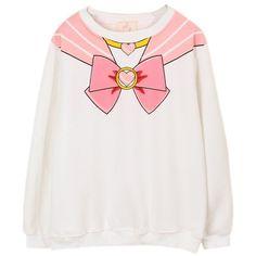 Sailor Moon Harajuku Sweater Print Top Cute Kawaii Cosplay Japan Anime... ($23) ❤ liked on Polyvore featuring tops, sweaters, shirts, pink, animal sweater, pattern tops, pattern shirt, animal tops and pink sweater