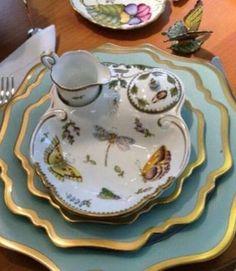 Anna Weatherly blue/green plates