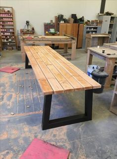 Diy Kids Furniture, Metal Furniture, Table Furniture, Bedroom Organization Diy, Concrete Table, Wooden Projects, Garden Table, Diy Table, Sweet Home