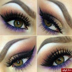 Love purple eye make-up! Love Makeup, Makeup Inspo, Makeup Inspiration, Makeup Tips, Makeup Looks, Hair Makeup, Makeup Ideas, Gorgeous Makeup, Beauty Make Up