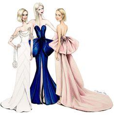 #Oscars2018 #MargotRobbie, #NicoleKidman and #SaoirseRonan by @alexandra_nea #FashionIllustrations |Be Inspirational ❥|Mz. Manerz: Being well dressed is a beautiful form of confidence, happiness & politeness