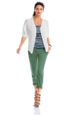 Play Day- CAbi Spring 2014 Collection.  Love the coast crops! www.christineworrell.cabionline.com