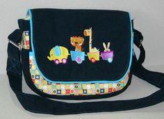 Kindergarten Umhängetasche - ToyTrain - Kindergarten, Diaper Bag, Lunch Box, Baby, Cord, Hook And Loop Fastener, Handarbeit, Totes, Gifts