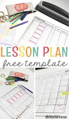 Free Lesson Plans Template - Mrs. Jones Creation Station