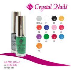 #Colores #ArtLac de #CrystalNails, formato 3ml