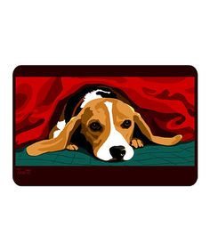 Look what I found on #zulily! Tosetti Beagle Pet Bowl Mat by Bungalow Flooring #zulilyfinds