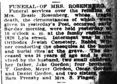 Bessie Gordon Rosenberg obit Houston Post 26 May 1908 pg 11