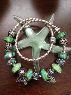 Love my blue and green Pandora charms! Nicole