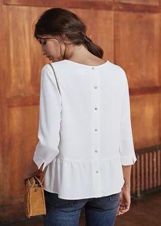 Sézane.com - Sézane, la première marque de prêt-à-porter française 100% en ligne - blouse satin, blouse and dress, white blouse womens *ad