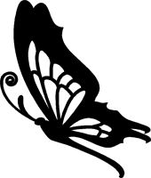 butterfly side silhouette tattoo google sticker stickers vinyl butterflies clipart decal decals cut silhouettes custom easy flowers window girly very
