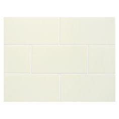 "Complete Tile Collection Vermeere Ceramic Tile - Alabaster - Gloss, 3"" x 6"" Manhattan Ceramic Subway Tile, MI#: 199-C1-311-441, Color: Alabaster"