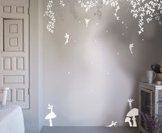 Subtly stylish, our enchanted fairy forest wall stickers are the perfect nomess, nofuss way to create your own designer nursery. Made of high quality mattfinish vinyl, they will complement your Bambizi bedding to create a true custom look. Whats more, the