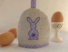 SewforSoul: Appliqued egg cosy. Personalised Easter cozy.