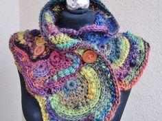 Handmade freeform crochet scarf shawl stole by handmadestreet101 #shawl,,#scarf,#stole