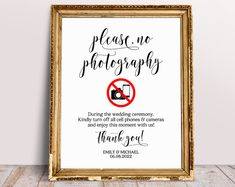 Please No Photos Wedding Sign, Unplugged Ceremony Sign, No Photography Sign, Unplugged Wedding Sign, Wedding Ceremony Sign, Wedding Prints Unplugged Wedding Sign, Wedding Hashtag Sign, Wedding Ceremony Signs, Wedding Reception, Wedding Prints, Font Names, Guest Book Sign, Signature Cocktail, Wedding Templates