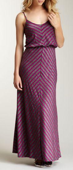 S.H.E. Mitered Striped Maxi Dress