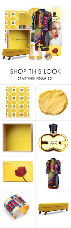 """Untitled #409"" by ohnoflo on Polyvore featuring nuLOOM, Paul Frank, Muuto, Loewe, Versace, Tory Burch, Joybird and Gianvito Rossi"