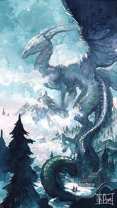 Dragonne Sleeva Watercolors by Morgan-chane on DeviantArt