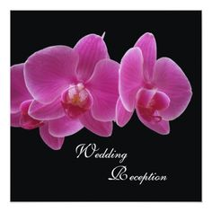Floral Wedding Reception Wedding Reception Only Invitation -- Orchids
