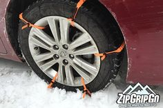 Need a push to get that car moving out of the snow? Just grab your ZipGripGo ties for that snow and ice traction you need to get out of that icy situation.