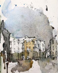 Landscape Sketch, Urban Landscape, Watercolor Artists, Watercolor Sketchbook, Buy Prints Online, Photography Illustration, Urban Sketchers, Freelance Graphic Design, Small Art