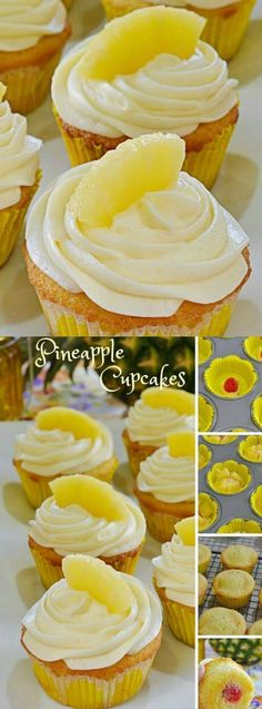 Bring a hint of the tropics into your home with these Pineapple Cupcakes from Lady Behind the Curtain.