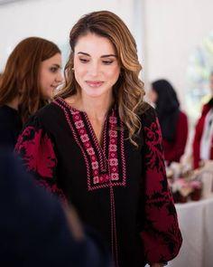 Queen Rania of Jordan at the Jordanian Assn for Human Development.June 22, 2017