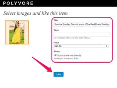 In addition to apparel, Polyvore allows you to clip photos of home decor items.