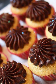 Vanilla & Chocolate Glittery Mini Cupcakes by ConsumedbyCake, via Flickr