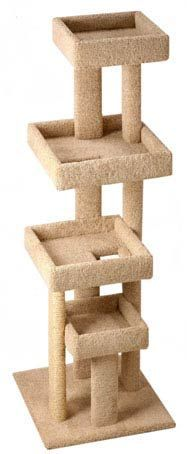 Very strong wooden cat tower for large cats