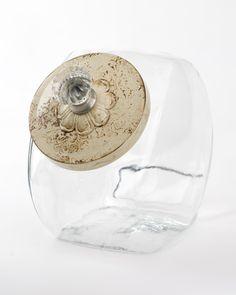 Antique White Vintage Look Hand-painted Cookie Jar. $48.00, via Etsy.