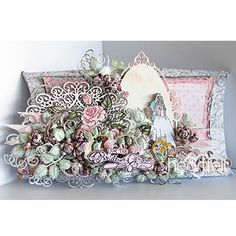 Classic Wedding Pillow Box made w/ Classic Wedding collection from #Heartfeltcreations