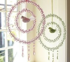 These Crystal Dream Catchers are way cool! Want to make them!