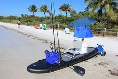 Heavy-Duty Fishing Paddle Board that can also be used as a sit on top kayak. Comes with grommet line for multiple gear attachment.
