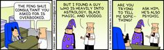 Dilbert on superstition