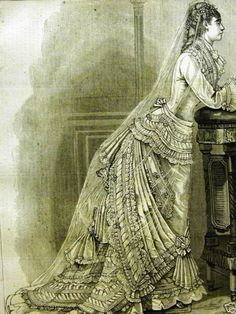 1876 wedding gown from Harper's Bazaar