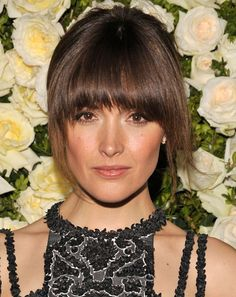 kinda thinking about getting bangs like this...she's so gorge!