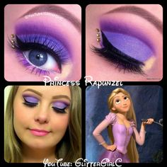 Disney Rapunzel makeup. YouTube channel: https://www.youtube.com/user/GlitterGirlC