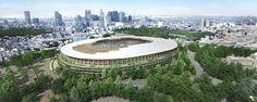Architect Kengo Kuma's design has been selected for Tokyo's new Olympic stadium, and Zaha Hadid is not pleased. Zaha Hadid Design, Architecture Design, Cabinet D Architecture, Japanese Architecture, Public Architecture, Classic Architecture, Landscape Architecture, Kengo Kuma, 111 West 57th Street