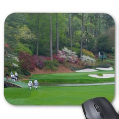 #Augusta #Golf Amen Featured Corner Mouse Pad #mousepad #tigerwoods #masters #golfclubs