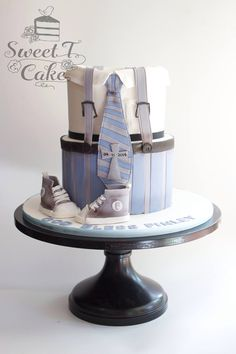 Little Man Birthday Party Theme Ideas Late last year, I attended a very cool and fun-filled first birthday party of my friend Just Cakes, Cakes For Boys, Baby Boy Cakes, Baby Shower Cakes, Little Man Birthday, Boy Christening, Novelty Cakes, Fancy Cakes, Love Cake