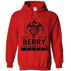 BERRY - Another Celtic Legend Shirt! - #homemade gift #coworker gift. MORE INFO => https://www.sunfrog.com/Names/BERRY--Another-Celtic-Legend-Shirt-5752-Red-Hoodie.html?68278