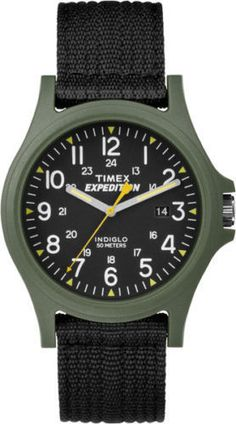 a4c250f4f20c Timex TW4999800 Expedition Camper Nylon Watch Indiglo Date TW49998009J  Sport Watches