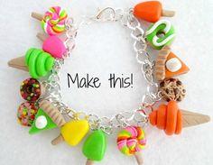 DIY Charm Bracelet  Polymer Clay Charm Bracelet by Emariecreations