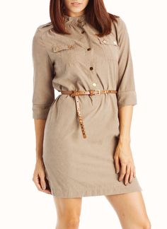 I already have the shoes in mind to wear with this! : )belted military dress $31.70