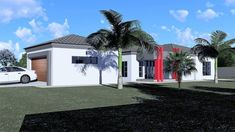 3 Bedroom House Plan - My Building Plans South Africa Split Level House Plans, Square House Plans, Metal House Plans, My Building, Building Plans, Architect Fees, House Plans South Africa, Construction Drawings, Bedroom House Plans