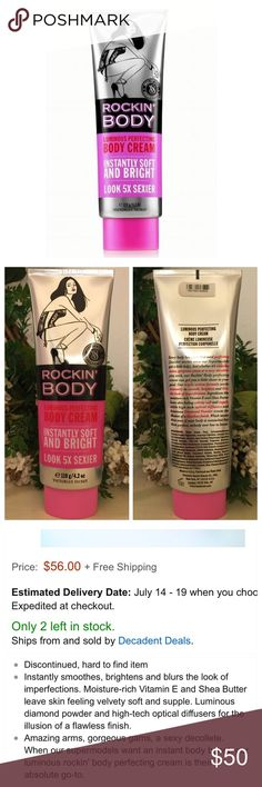 Rare VS Body Perfecting Rockin' Body Cream✨ Own that catwalk with the actual cream the Victoria's Secret models use! Authentic and hard to find . Highly sought after body luminous cream containing vitamin E and Shea butter. Makes your legs look super gorgeous and model ready! I paid $56 + shipping for this. Will consider trades with only those who have past trade history✨. TV $60. Victoria's Secret Accessories